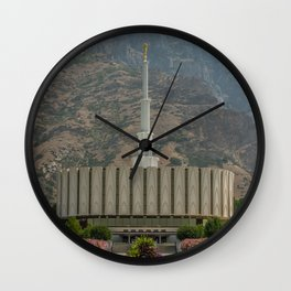 Provo Utah Mormon Temple Latter Day Saints Church Wall Clock