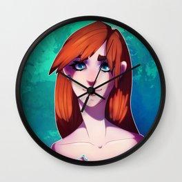 Portrait Girl Wall Clock