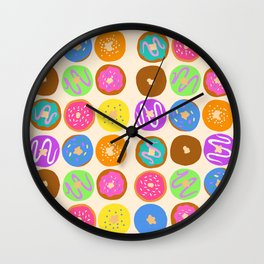 Donuts for Breakfast Wall Clock