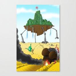 Part 3: Brontosorus Crashes Canvas Print