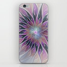 Fantasy Flower, Colorful Abstract Fractal Art iPhone Skin