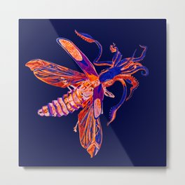 Inverted Squid- Soldier Beetle Metal Print