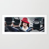 agent carter Art Prints featuring Agent Carter by IVIDraws