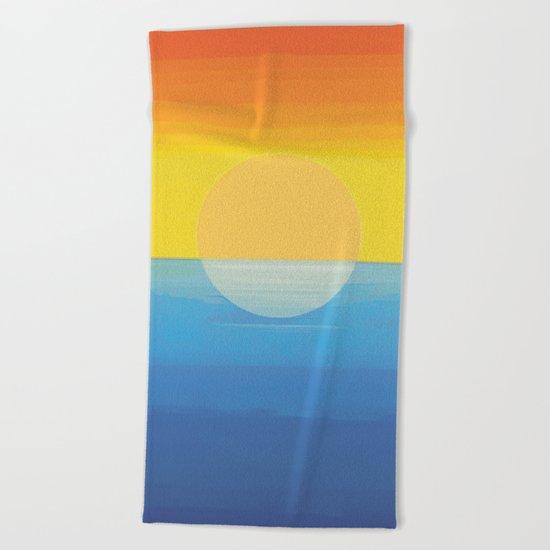 Sunset - Every Time We Say Goodbye Beach Towel