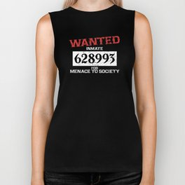 Wanted Criminal Inmate Menace to Society Prisoner Costume Supplies Decoration Unisex Shirt Biker Tank