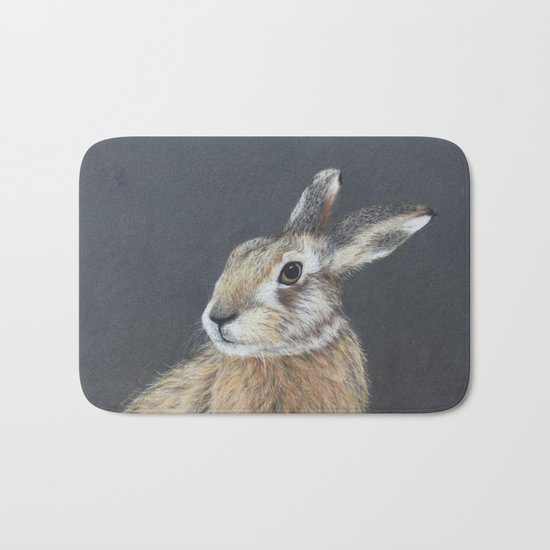 The Hares Stare Bath Mat