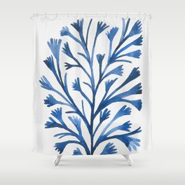 Watercolor Ocean Life III Shower Curtain