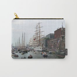 Tall ships in Amsterdam's Harbour Carry-All Pouch