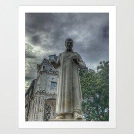 St. Paul's monument on the rainy day at St. Paul's Church (Melaka) Malacca City, Malacca, Malaysia Art Print
