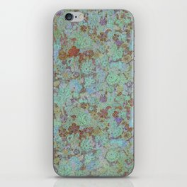 Flowers Under - Cool Colors iPhone Skin