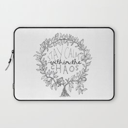 Stay Calm Within The Chaos Laptop Sleeve
