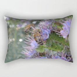 Bees on Buddleia Rectangular Pillow