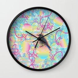 Summery Bubbly Bird Wall Clock