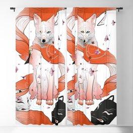 Red Kitsune Blackout Curtain
