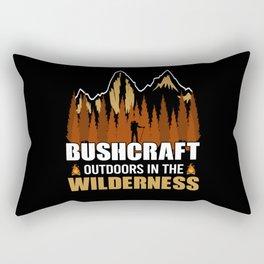 Bushcraft - Outdoors In The Wilderness Rectangular Pillow