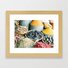 "Travel photography ""Souk Marrakech"" Spices of the Medina   Morocco photography Framed Art Print"