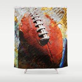 Football ball vs 6 Shower Curtain