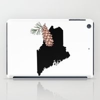 maine iPad Cases featuring Maine Silhouette by Ursula Rodgers
