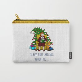 A Blue Christmas Carry-All Pouch