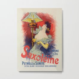 Saxol Ine P Trole De Suret 1900 By Jules Cheret | Reproduction Art Nouveau Metal Print