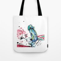 randy c Tote Bags featuring Randy by Marissa Grondin Art