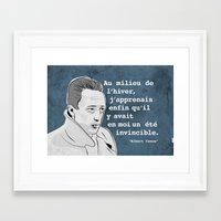 camus Framed Art Prints featuring Camus by jnk2007