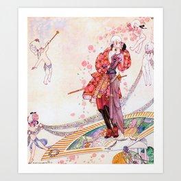 Kay Nielsen - Prince Souci And Princess Mignon Minette On The Fan Art Print