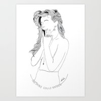 ellie goulding Art Prints featuring Ellie Goulding Eyeless Illustration by Leonardo Panhan