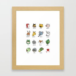 Hotline Kawaii Framed Art Print