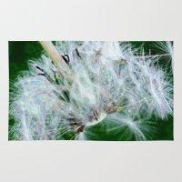 dandelion Area & Throw Rugs featuring Dandelion by MehrFarbeimLeben