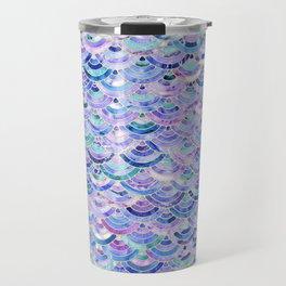 Marble Mosaic in Amethyst and Lapis Lazuli Travel Mug
