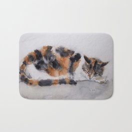 Calico cat Bath Mat
