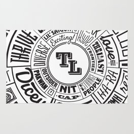 TenderLoin San Francisco Type Wheel Rug