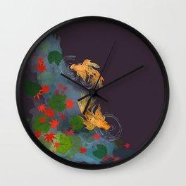 Momiji Pond Wall Clock