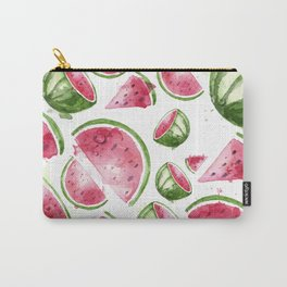 Juicy Watercolor Watermelons Carry-All Pouch