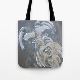 Inquisitive Schnauzer Tote Bag