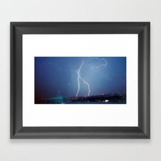 They want rain without thunder and lightning. Framed Art Print