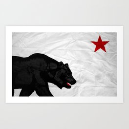 California Bear Art Print