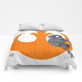 Droid Eek! (orange) Comforters