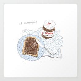 Breakfast on Sunday Art Print