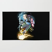 phil jones Area & Throw Rugs featuring Phil Coulson by Page Branson