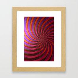 fringe pattern Framed Art Print