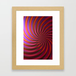 fringe pattern Framed Art Print