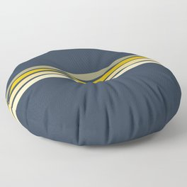Racing Retro Stripes Floor Pillow
