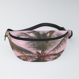 Pink Palm Trees Fanny Pack
