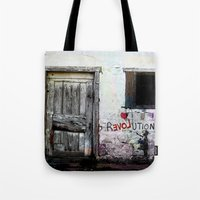 revolution Tote Bags featuring rEVOLution by Bärdie D/Sign
