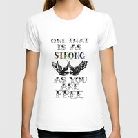 larry stylinson T-shirts featuring One that's strong as you are free (Larry Stylinson) by Arabella