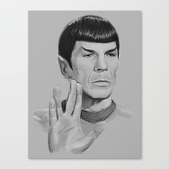 Spock Portrait Star Trek Canvas Print