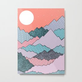 Mountain Tones Metal Print