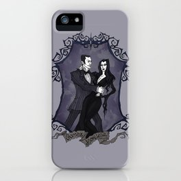 Gomez and Morticia Addams iPhone Case
